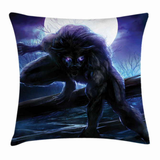 Surreal Werewolf Eyes Pillow Cover
