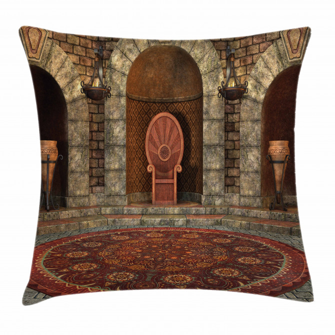 Throne of King Vintage Pillow Cover