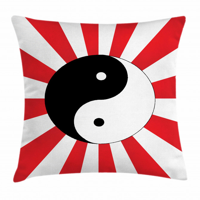 Asian Chinese Sun Pillow Cover