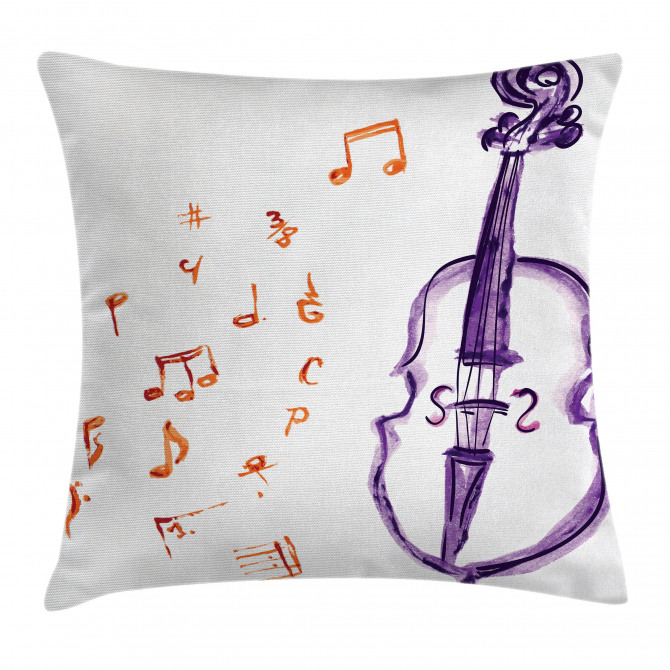 Musical Note Black Theme Pillow Cover