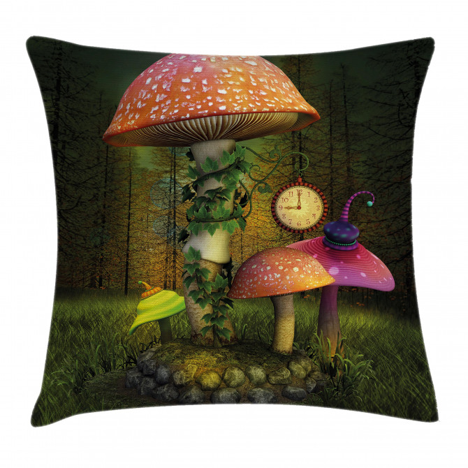 Giant Mushroom and Elve Pillow Cover