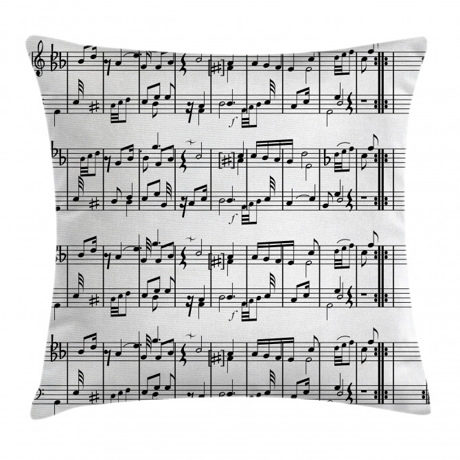 Notes on the Clef Pillow Cover