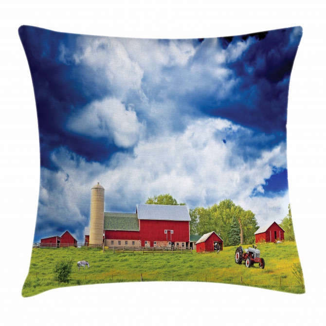 Warehouse Barn Scenery Pillow Cover