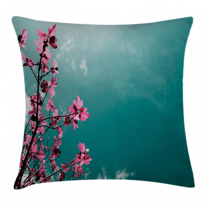 Sunny Sky Exotic Summer Pillow Cover