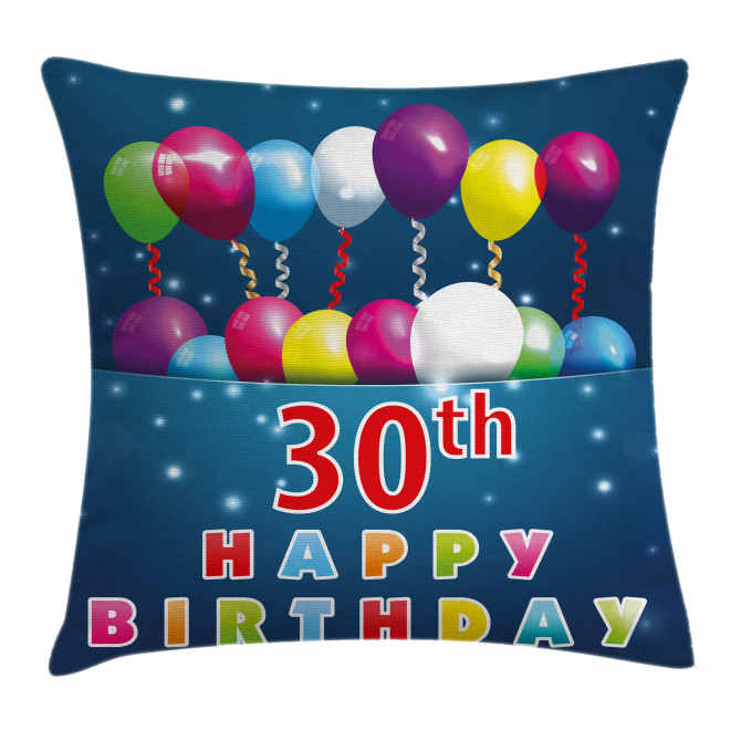 Balloons Curly Ribbon Pillow Cover