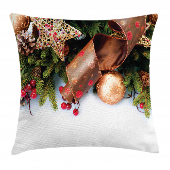 Pine Cones Garland Pillow Cover