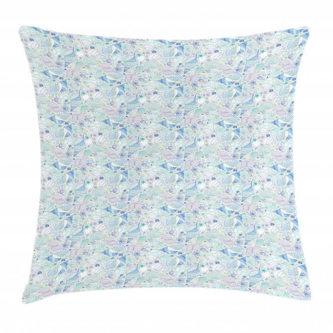 Seaurchin and Starfish Pillow Cover