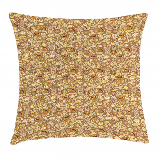 Sea Cone and Starfish Pillow Cover