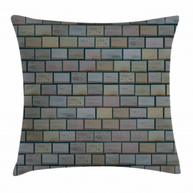 Stained Stone Brick Pillow Cover