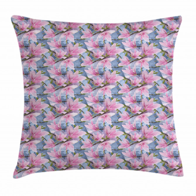 Low Poly Nature Scene Pillow Cover