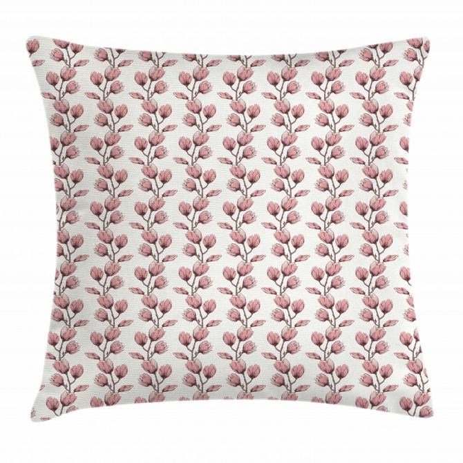 Feminine Flower Branch Pillow Cover