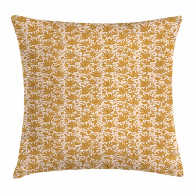 Stencil Print Pattern Pillow Cover