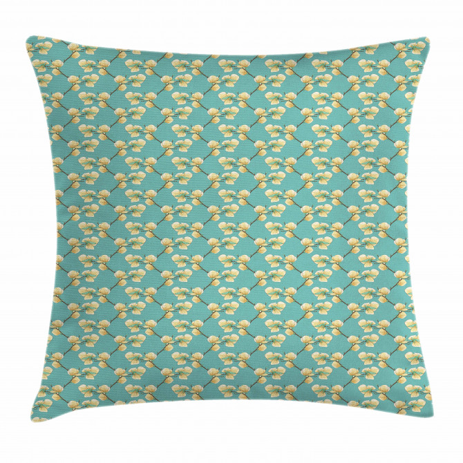 Sprouting Flower Twigs Pillow Cover