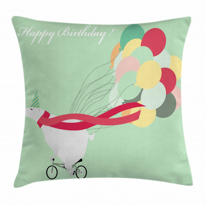 Happy Birthday Party Pillow Cover