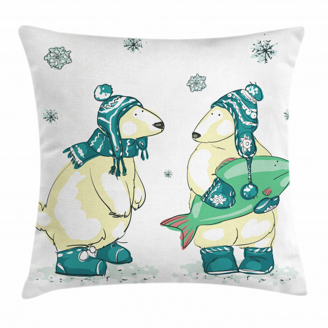 Friends Fish Xmas Pillow Cover