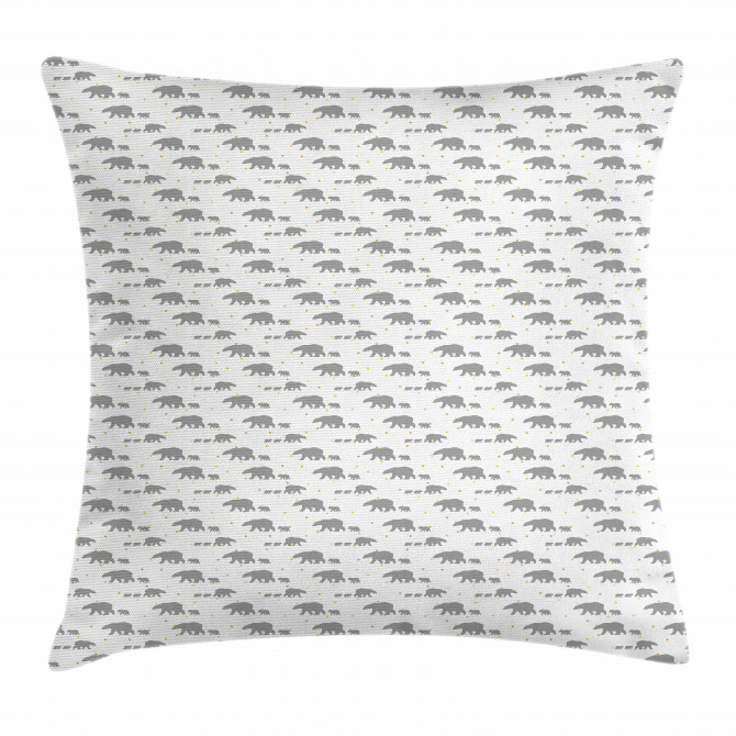 Grey Mother Child Pillow Cover