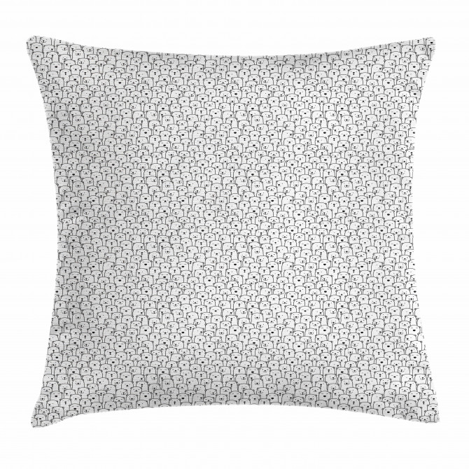 Arctic Animal Crowd Pillow Cover