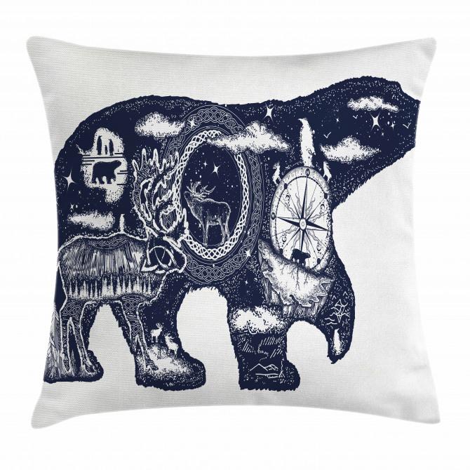 Boho Animal Wildlife Pillow Cover
