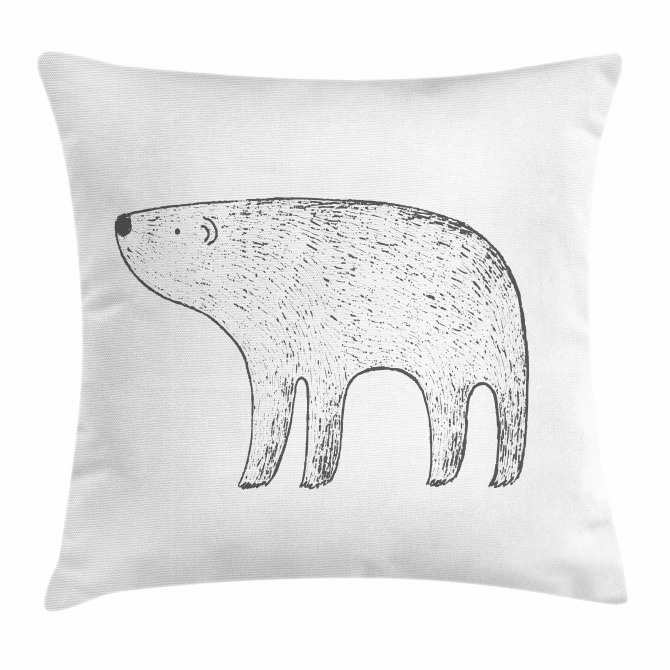 Hand Drawn Animal Pillow Cover