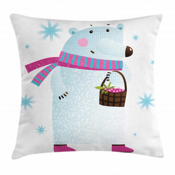 Berry Basket Bear Pillow Cover