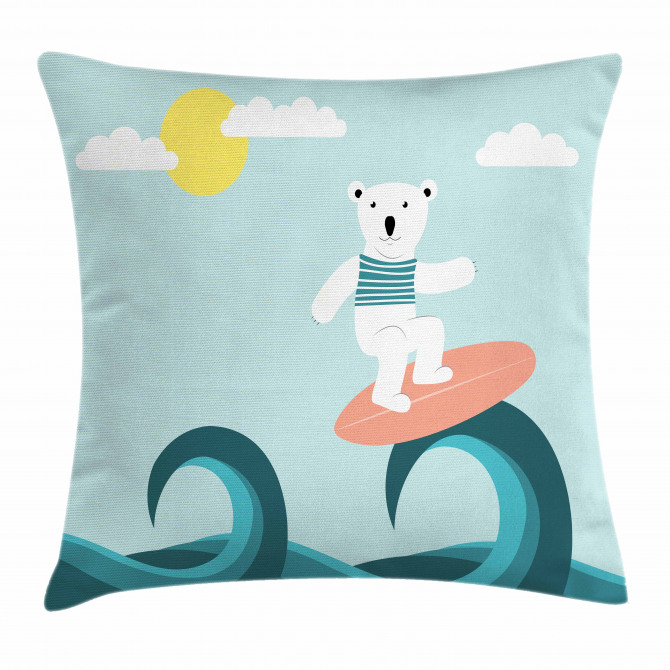Surfing on Waves Pillow Cover