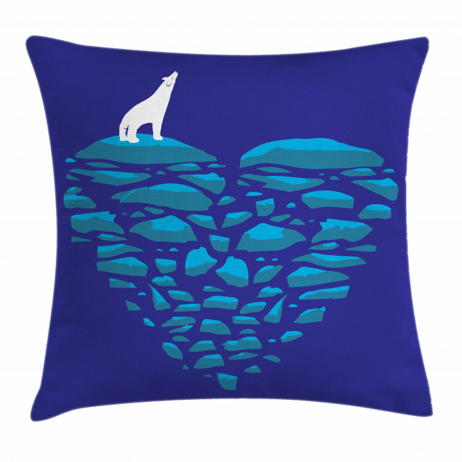 Ice Abstract Heart Pillow Cover