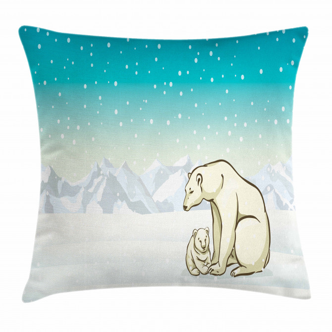 Arctic Animal Family Pillow Cover