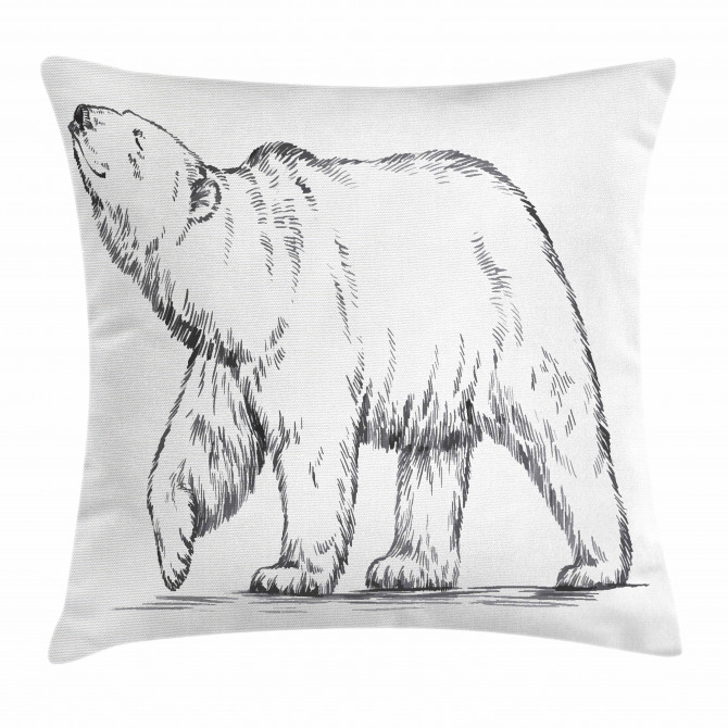 Sketch Nordic Animal Pillow Cover