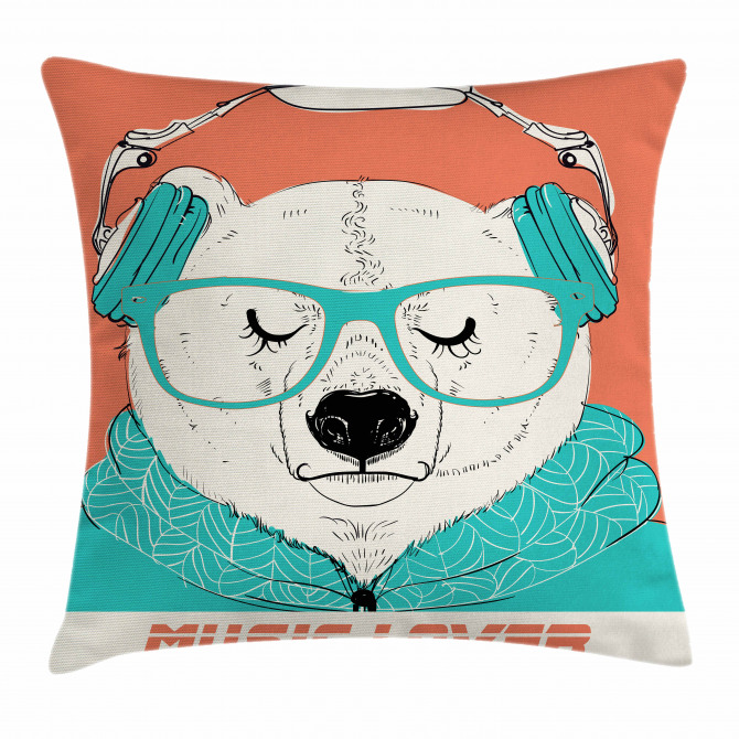 Music Lover Animal Pillow Cover