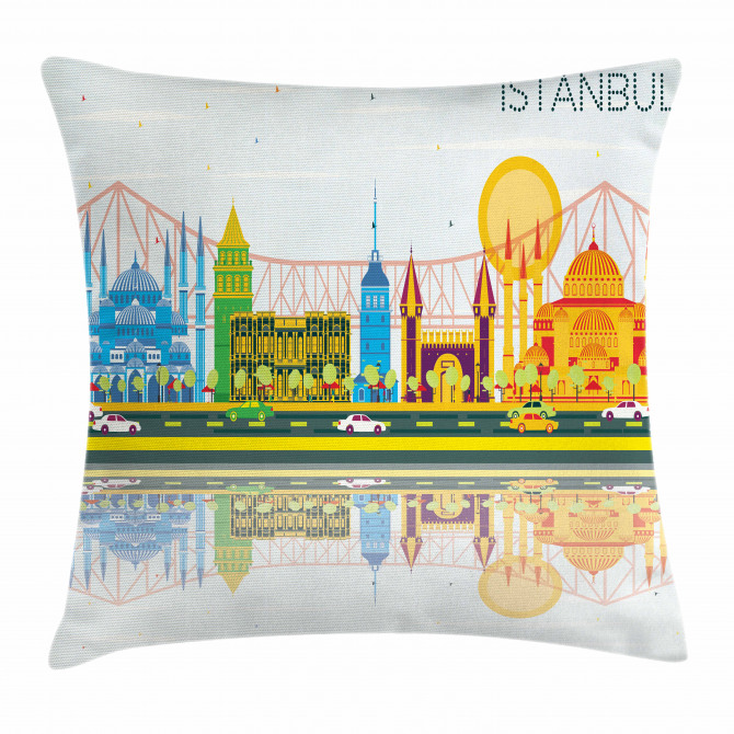 Cultural Landmarks Pillow Cover