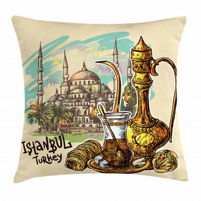Teapot Sweets Turkish Pillow Cover