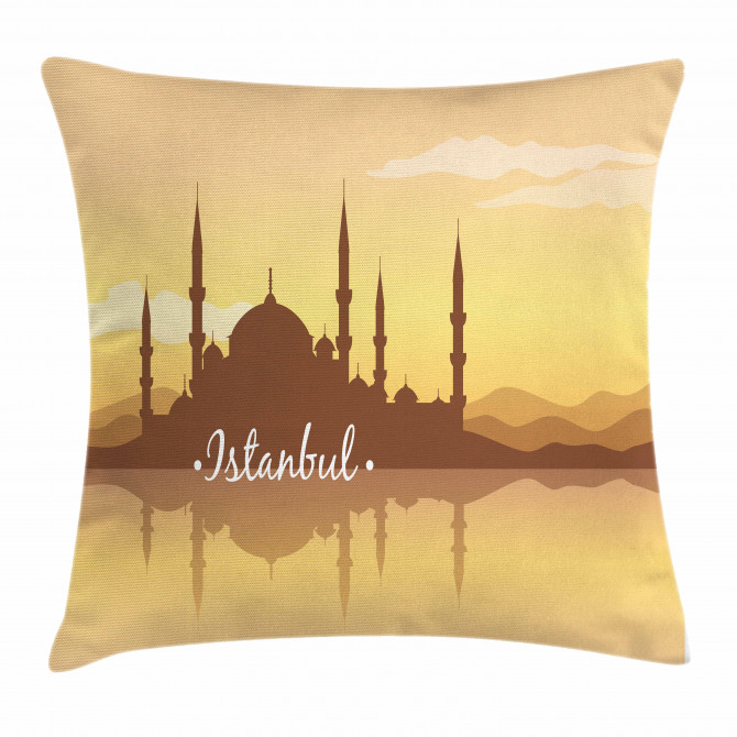 Panorama Sunset View Pillow Cover
