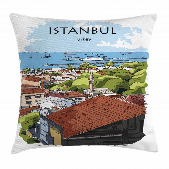 Sea Marmara Harbor Pillow Cover