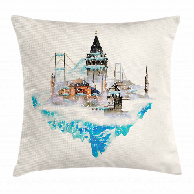 Watercolor Winter Art Pillow Cover