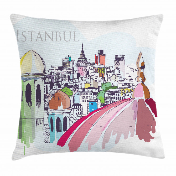 Aerial Scenery Urban Pillow Cover