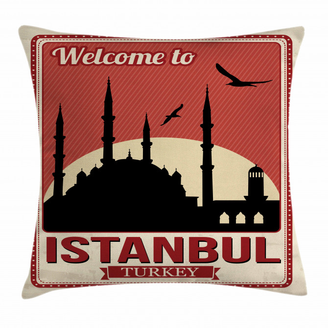 Welcome Greeting Art Pillow Cover