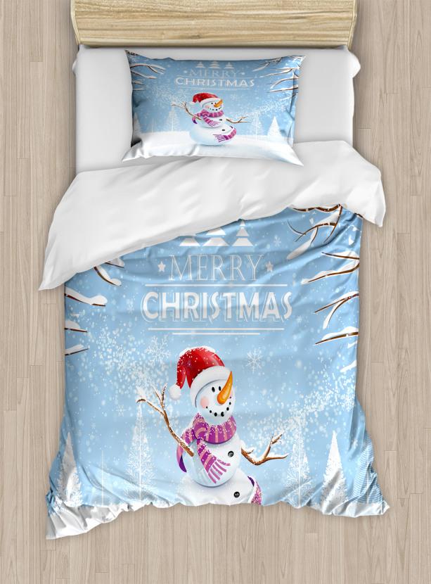 Snowy Winter Noel Duvet Cover Set