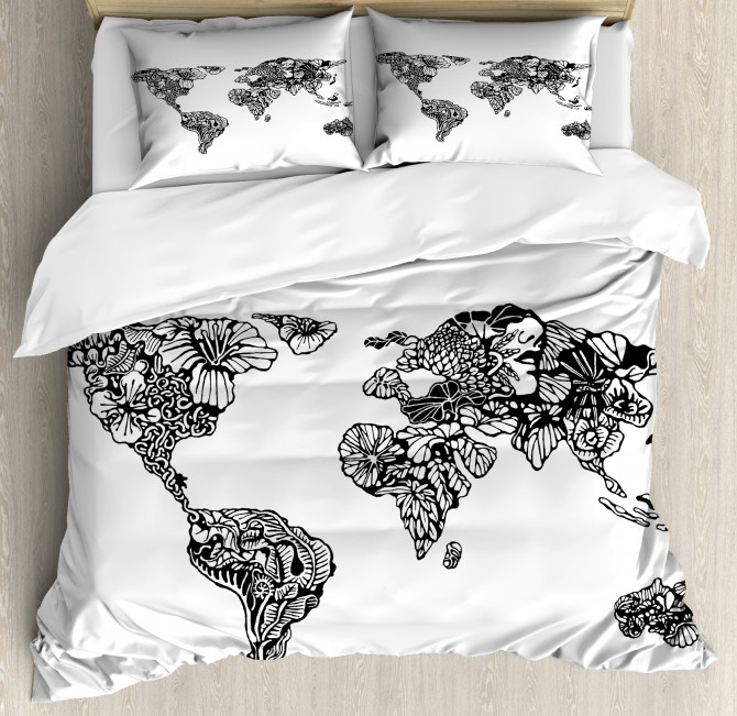 World Map Charm Duvet Cover Set