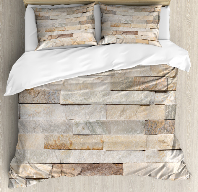 Brick Wall Stylized City Duvet Cover Set