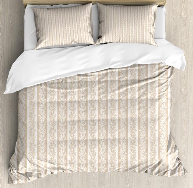 Swirls Baroque Style Duvet Cover Set