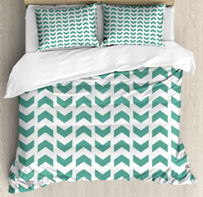 Abstract Zigzag Tribal Duvet Cover Set