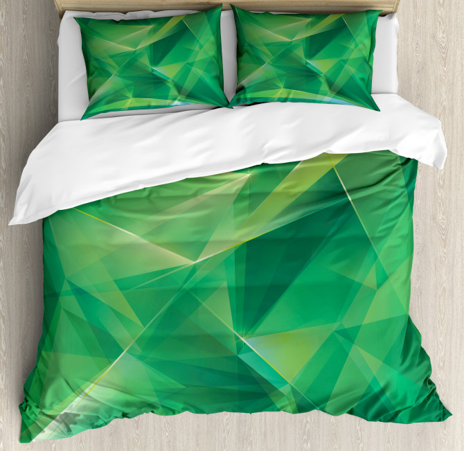 Geometric Crystal Duvet Cover Set