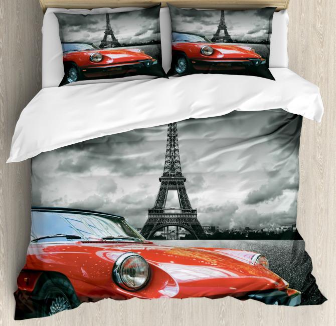 Romantic City Paris Duvet Cover Set