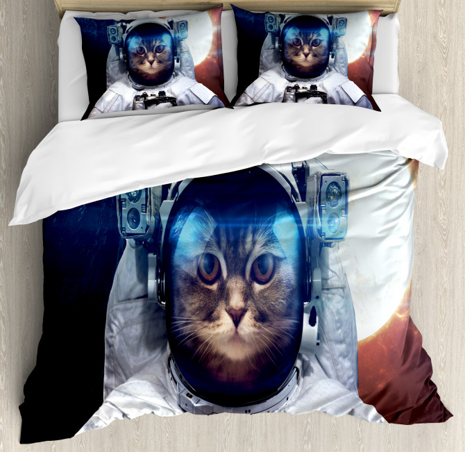 Kitty in Galaxy Dust Duvet Cover Set