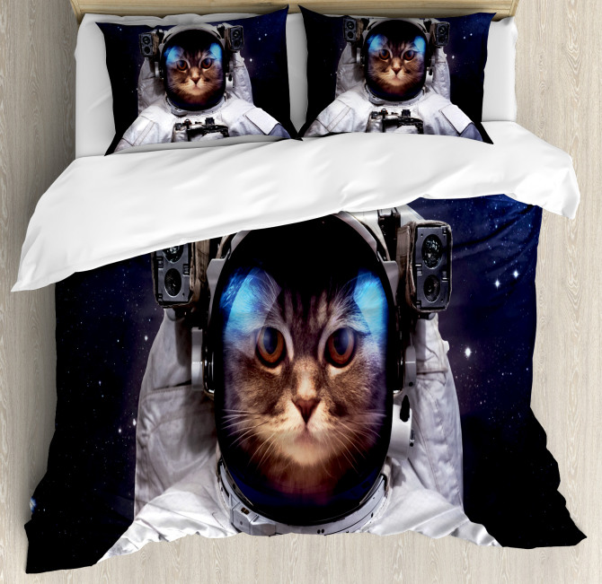 Kitty Suit in Cosmos Duvet Cover Set