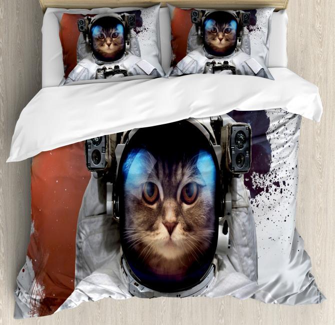 Grunge Cosmonaut Suit Duvet Cover Set