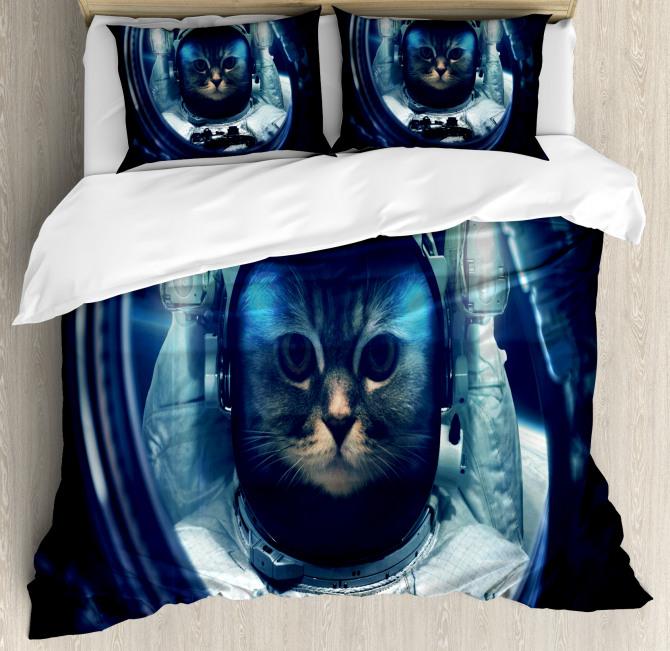 Glass Rocket Galaxy Duvet Cover Set