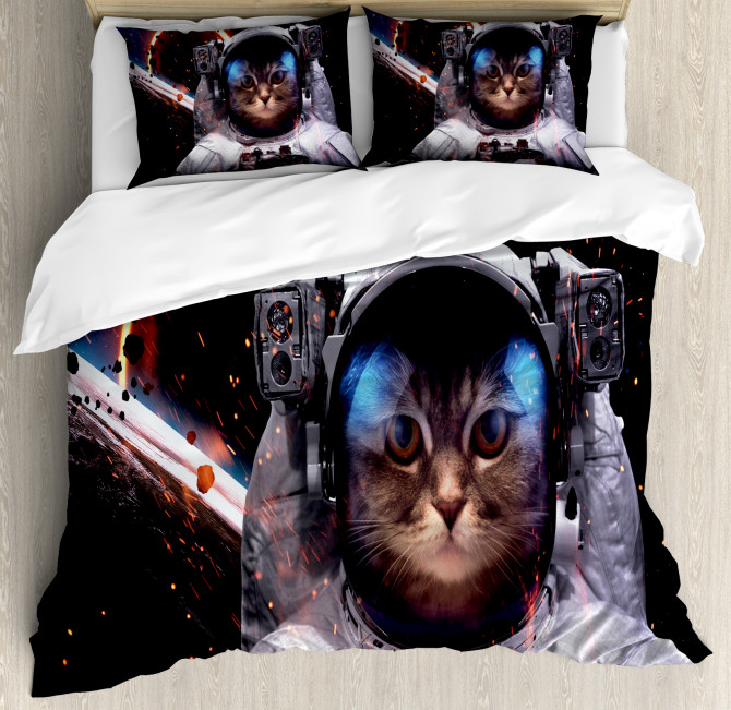 Clusters Outer Space Duvet Cover Set
