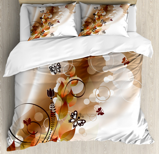 Spring Themed Abstraction Duvet Cover Set