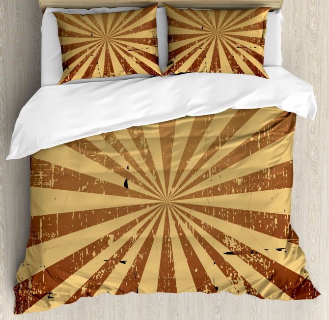 Damaged Grungy Rusty Old Duvet Cover Set